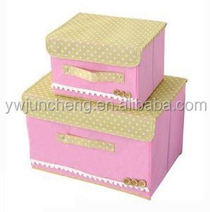mignon kid chambre d corative carton bo te de rangement avec couvercle bo tes caisses de. Black Bedroom Furniture Sets. Home Design Ideas