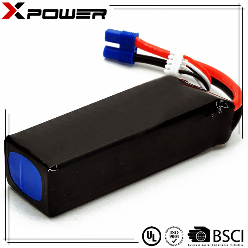 Professional full capacity high power rechargeable li-polymer battery 14.8V 4500mAh 30C for radio control hobby