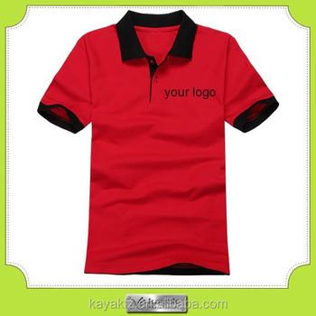 bd46a6bc070da Design personalizado 100% algodão pique camisas polo vermelha para uniforme  de trabalho