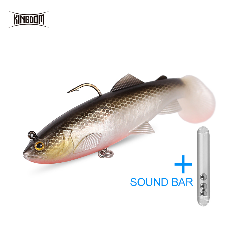 KINGDOM Model 8801 Crazy Trout Noisy Tail 120 mm 38 g Wobblers Sinking Artificial Fishing Lure Soft Bait