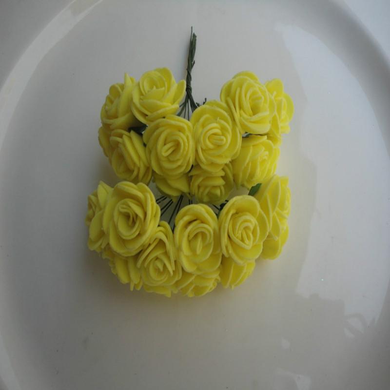 Blumen, Blüten & Girlanden 100% QualitäT 144 Stücke 2 Cm Multicolor Mini Künstliche Seide Blume Pe Schaum Rose Eine GroßE Auswahl An Farben Und Designs Hochzeitsdekoration