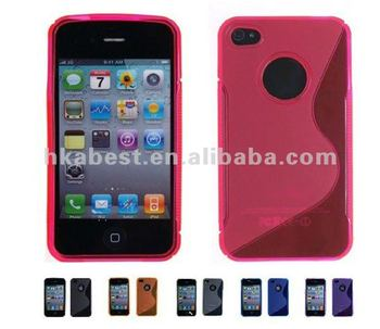 For Apple iPhone 4S/iPhone 4 S-Line TPU Hybrid Case