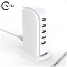 usb multi mobile phone charger 4 5 port usb charger station eu rohs with UL plug