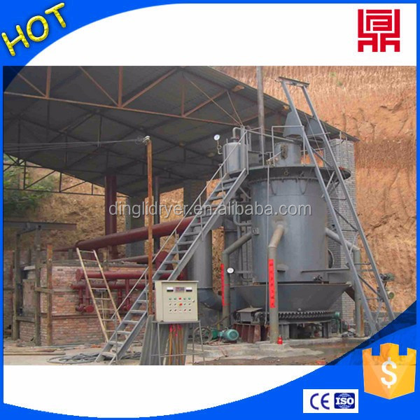 High efficiency gas furnace with cyclone dust collector used as drying heating source