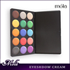 15 color high quality yellow eye shadow,red eyeshadow