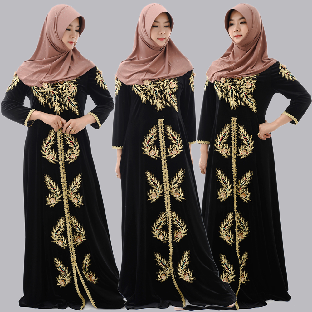 Jilbab Clothing Manufacturer Oversea abaya 2019 dubai Wholesale Butterfly Wedding Dress Arabic Muslim Woman Dress Abaya