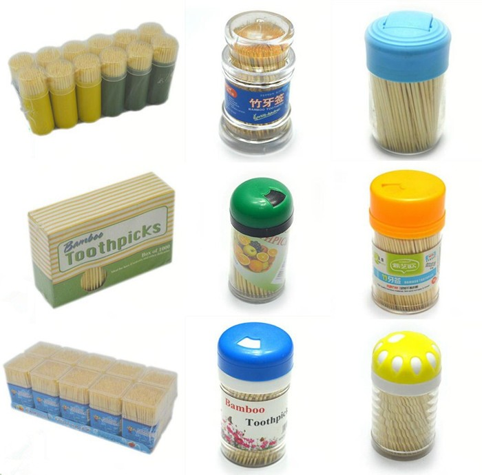 2.0mm diameter cooking skewers biodegradable bamboo toothpicks in jar