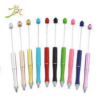 Instagram Featuredin Hot Personalized Gift Diamond Decorative Pen Water Drop Top DIY Beadable Pens Jewelry Handcraft Beaded Pen