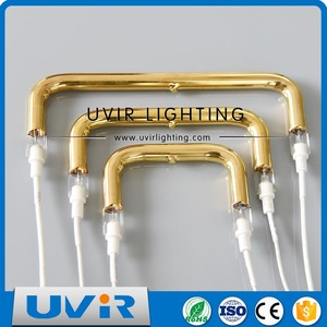 Infrared Lamp Halogen Quartz U-shaped Heating Tube 850W