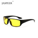 Jaspeer cheap wholesale PC frame yellow lens outdoor bicycle sports eyewear night vision sunglasses