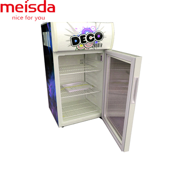 52L single glass door mini Milk Fridge with customized logo