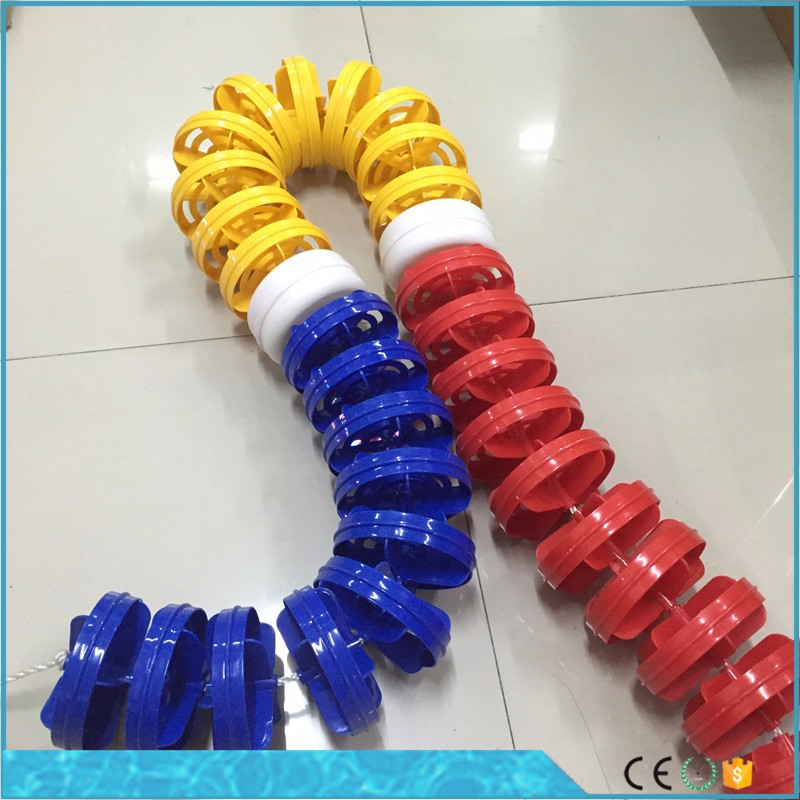 Promotion swimming pool floats and hooks lane liners rope swimming pool lane line