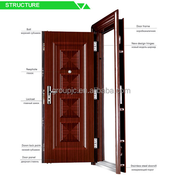 China Lepin Apartment Building Intercom System Steel Tubular Gate
