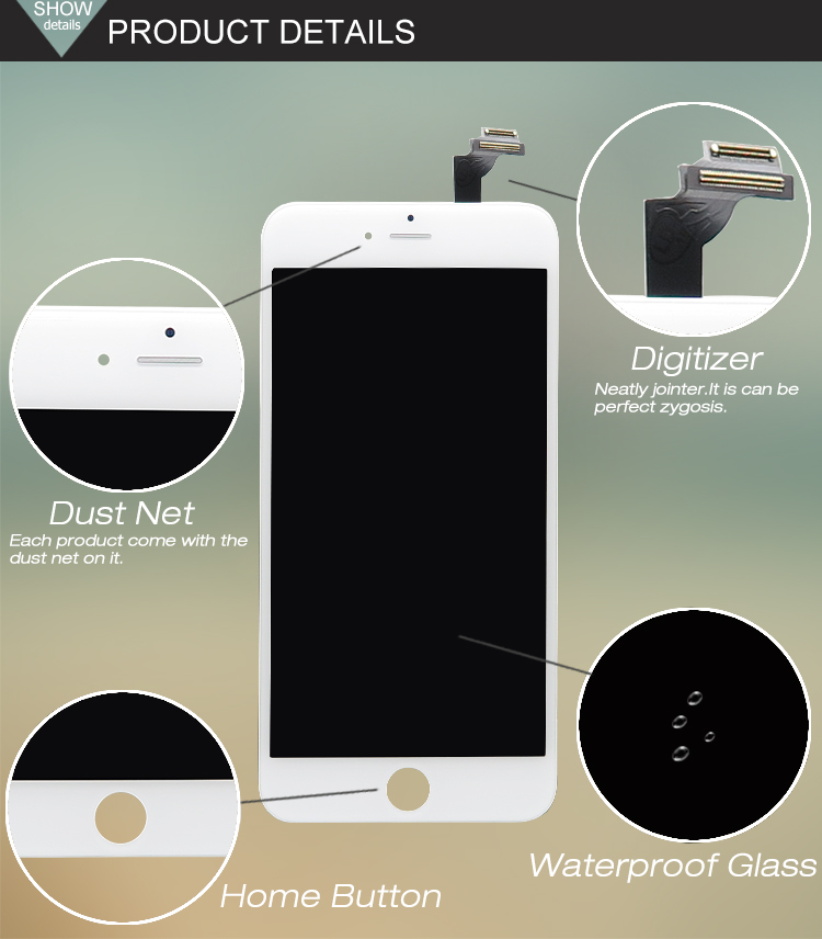 4.7 inch phone lcd For Apple for iPhone 6 PLUS LCD Display Touch Screen With Digitizer Assembly
