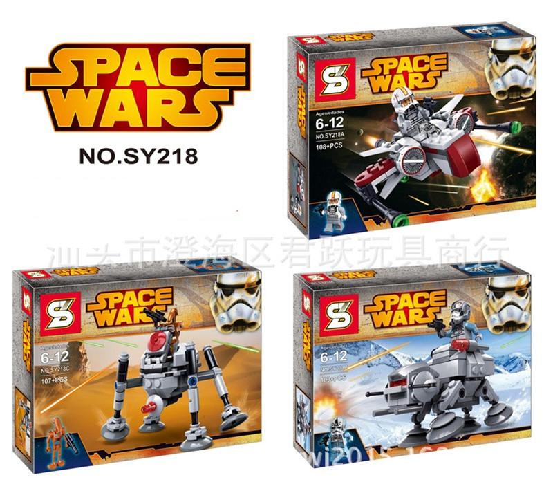 2016 New STAR WARS SY218 Mini ARC-170 Starfighter & Microfighters AT-AT&X-Wing Fighter Microfighter Bricks Mini Figures Toys