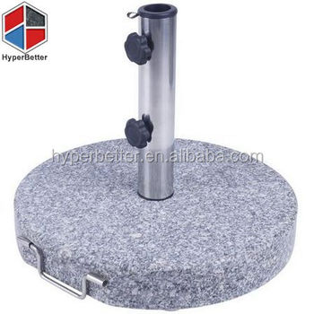 Natural grey round granite garden umbrella base