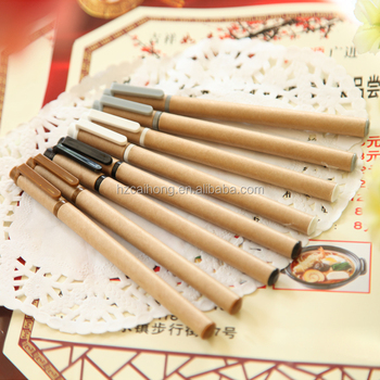 Eco-friendly paper ballpen factory/ promotional ball pen / square paper pen CH-6549
