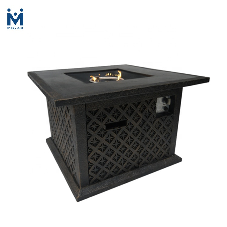 Hot 38 Inch Square Iron Garden Fire Pit Table Cast Product On Alibaba