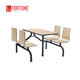 Steel Frame School Canteen Table Metal School Furniture, School Dining Hall Furniture (FOH-CBC02)