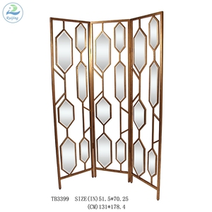 Ruijing Custom Metal Mirror Screen Room Divider