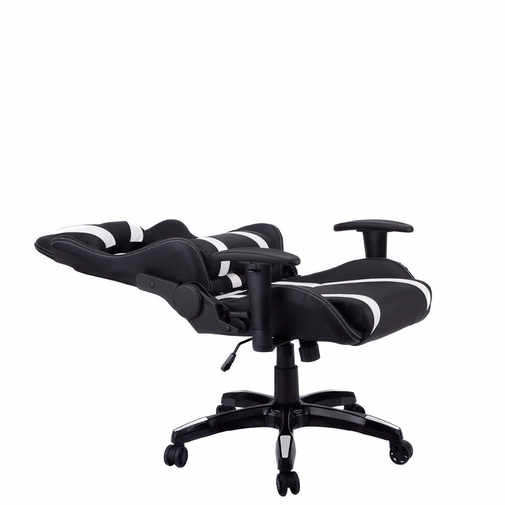 office reclining chair. Cheap Swivel PU Leather Office Reclining Racing Gaming Chair F