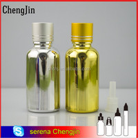 Taobao gold silver spray coating glass dropper bottle 10ml 15ml 30ml 50ml for cosmetic serum essential oil olive oil packaging