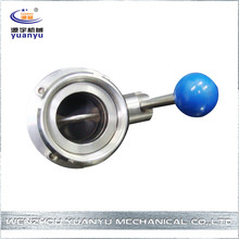 sanitary durable top selling dn300 butterfly valve