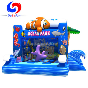Cheap ocean world pony indoor inflatable bouncer for sale