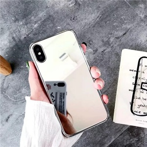 super hot selling electroplated mirror phone cover for iphone 6-xs max tpu make-up mirror cases for iphone x/10 shell