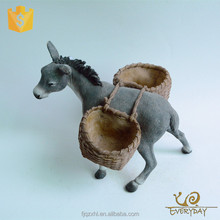 Decorative Polyresin Farm Small Animal Burros Figurine Donkey Sculpture Gift