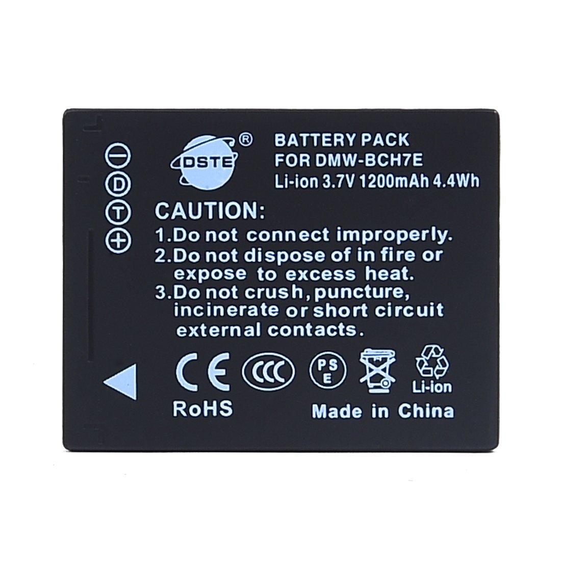 DSTE DMW-BCH7E Replacement Li-ion Battery for Pansonic Lumix DMC-FP1 DMC-FP2 DMC-FP3 DMC-FT10 DMC-TS10 Camera as DMW-BCH7 DMW-BCH7PP