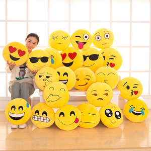 Stock Designs OEM&ODM Accepted Plush Emoji Pillows