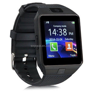 BIS CE and RoHS Certificate Factory New Products Pedometer Sleep Bluetooth DZ09 Bluetooth 2G Smart Watch with camera