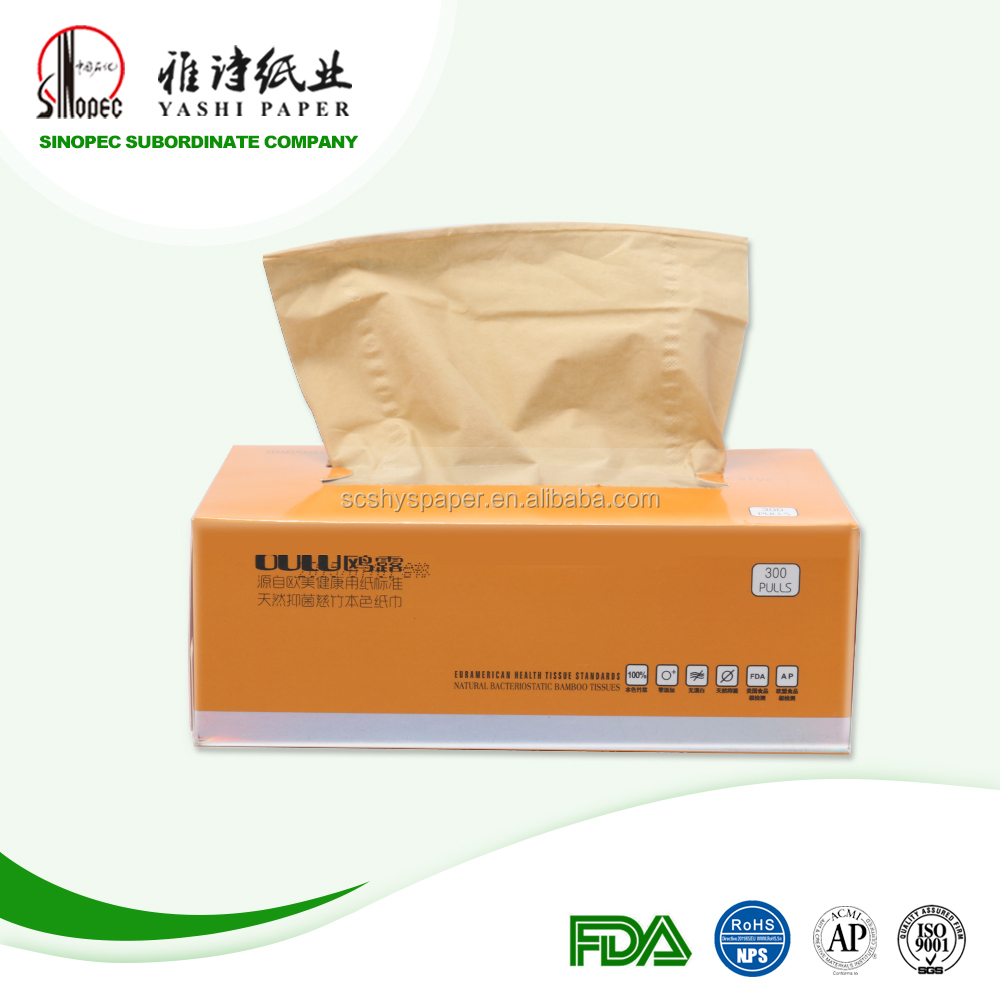 Office application bamboo tissue box bamboo paper