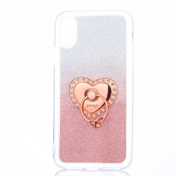 Soft Tpu Gradient Colors Plastic Glitter Case For Iphone 8 With