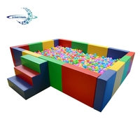 Eco-friendly Square Combination soft play baby toddler plastic indoor ball pool for kids