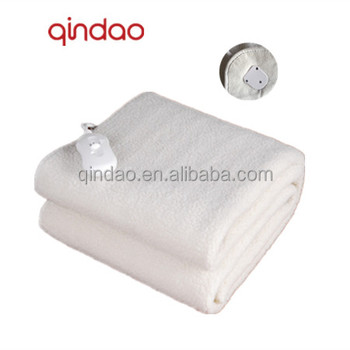 EU Market and CE Approved Synthetic Wool Fleece Electric Mattress Blanket