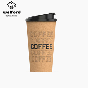 Customized logo printing 450ml PLA cork coffee mug