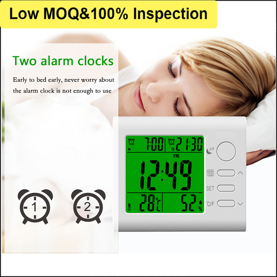CE Approved Wall Hanging Household Outdoor LCD Digital Temperature Thermometer Hygrometer