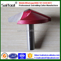 Woodworking router bits in high performance/solid carbide end mills
