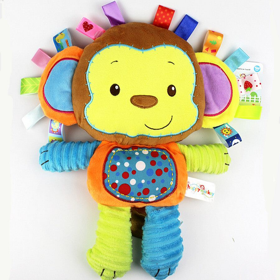 Plush baby toys infants teddy appease towel grasping rattles, BB, multi-functional brinquedos para bebe