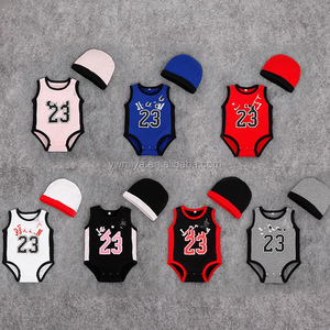 MS-96 2018 Summer New Male baby girl cotton sports jumpsuit Send a hat