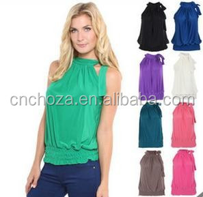 Z59413A China wholesale women plain tank tops low price tank tops colorful vest