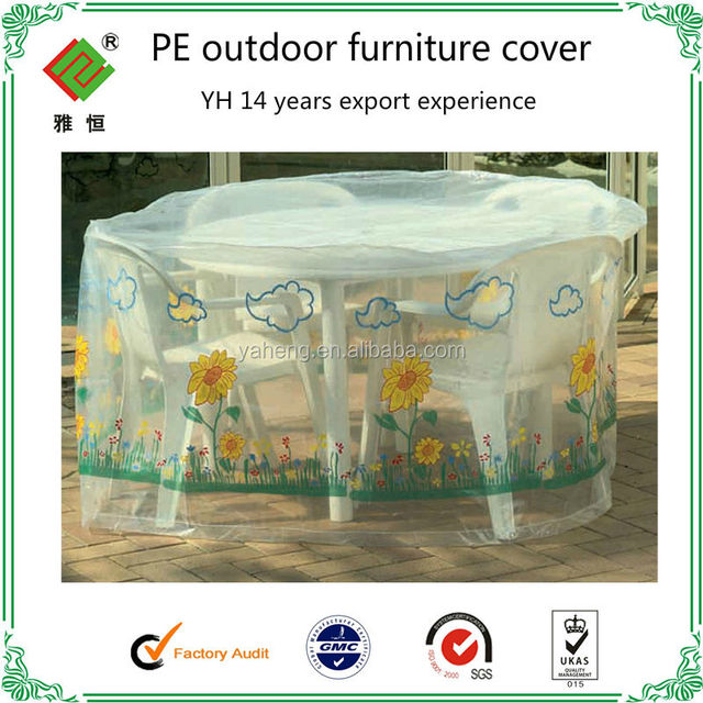 Clear Plastic Outdoor Furniture Covers Pe Or Peva Reach Standard Cover
