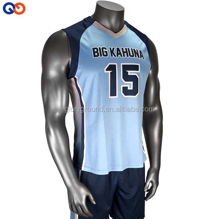 China custom design your own volleyball jersey for men