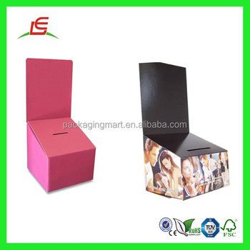 Q1013 Large Corrugated Cardboard Election Ballot Boxes,Printed ...