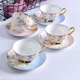Royal fine bone china vintage style flower shape decal christmas ceramic tea cup and saucer