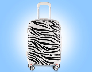 modern zebra pc printed luggage suitcase 3 pieces sets