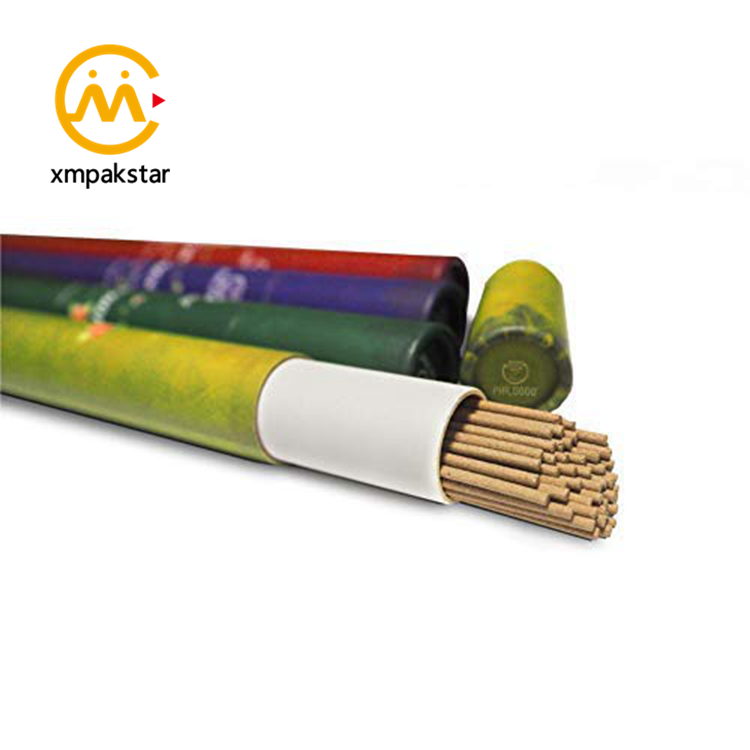 Custom storage cylinder box cardboard round tube for incense stick