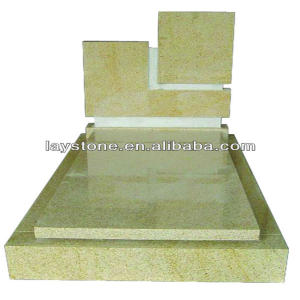 Memorial light green granite headstones monuments